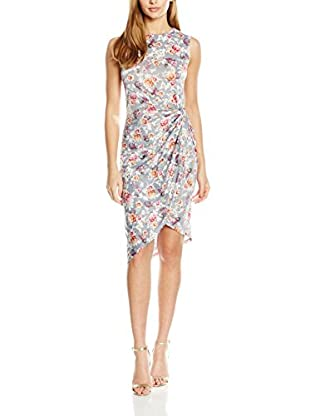 ISKA Vestido Delicated Floral Side Ruched