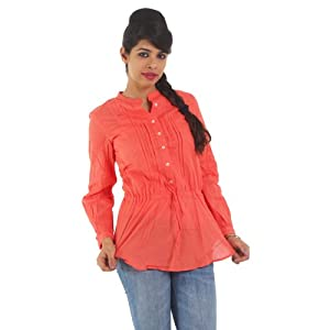Srishti Cambric 100% Cotton 3/4Th Sleeve - Peach (1000017622010)