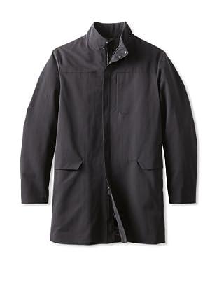Calvin Klein Collection Men's Water Repellant Over Coat (Black)