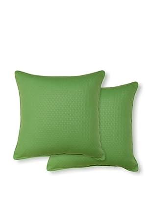 Dakota Set of 2 Diamond Pillows (Emerald)