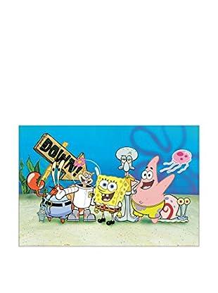 ArtopWeb Panel de Madera Spongebob 60x90 cm