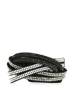 Shiny Cristal Armband schwarz