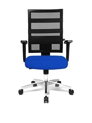Topstar Bürodrehstuhl X-Pander inkl. Armlehnen (blau/schwarz)
