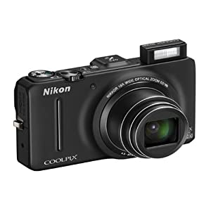 Nikon Coolpix S9300 16MP Point-and-Shoot Digital Camera (Black) with 4GB Card, Camera Pouch