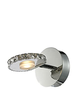 Artistic Lighting Spiva Collection 1-Light LED Bath Fixture, Polished Chrome