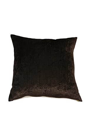 Filling Spaces Solid Crushed Velvet Pillow, Chocolate