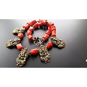 Dreamz Jewels Coral Ganesh Necklace