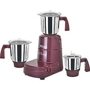 Tosaa Cherio 550-Watt Mixer Grinder (Cherry Red)