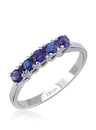 Divas Diamond Anillo Sapphire-Amethyst (Plata)
