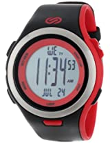 Soleus Men's SR010010 Ultra Sole Grey Digital Dial with Black and Red  Polyurethane Strap Watch