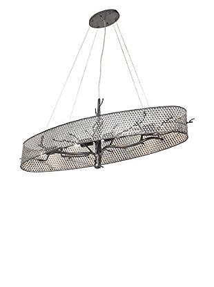 Varaluz Treefold 4-Light Linear Pendant, Steel