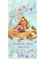 Disney Tangled Rapunzel Beach Towel 100% Cotton Kids Bath