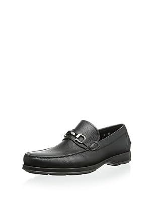 Salvatore Ferragamo Men's Alvaro 2 Loafer Slip-On (Black)