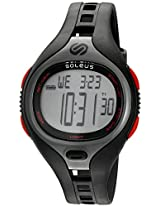Soleus 'Dash' Quartz Plastic Running Watch, Color:Black (Model: SR018-010)