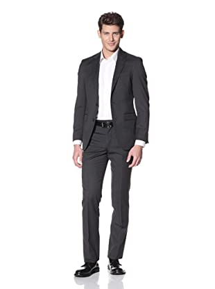 Kenneth Cole New York Men's Heathered Suit (Charcoal Solid)