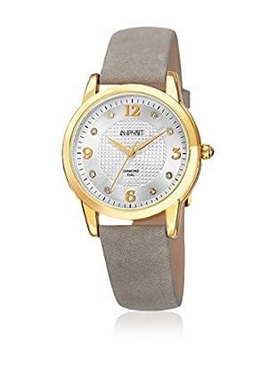 August Steiner Uhr mit japanischem Quarzuhrwerk  weiß 33 mm