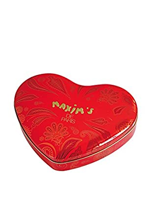 Maxim's de Paris Large Red Heart Tin with 24 Assorted Chocolates