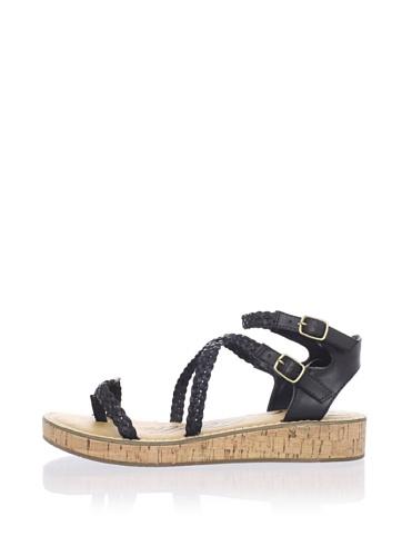 Ciao Bella Women's Sancha Ankle-Strap Sandal (Black Burnish)