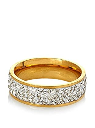 Chloe by Liv Oliver 18K Gold Eternity Crystal Band Ring