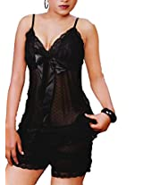 Hautewagon Black Babydoll with Thong