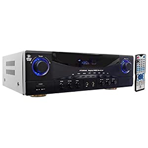 Pyle 5.1 Channel Amplifier Receiver Home Theater Surround Sound Stereo System, 350 Watt (PT590AU)