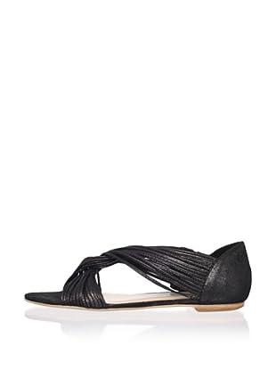 Loeffler Randall Women's Luca Mignon Flat (Black)