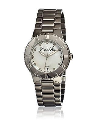 Bertha Uhr mit Schweizer Quarzuhrwerk Millicent silberfarben 40 mm