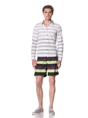 Copy Men's Empire Long Sleeve Woven Shirt (Pewter)