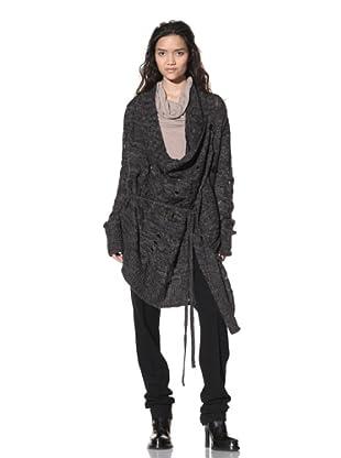 Ann Demeulemeester Women's Slouchy Sweater (Black Chine)