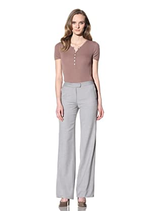 Loro Piana Women's Wool Trouser (Grey)