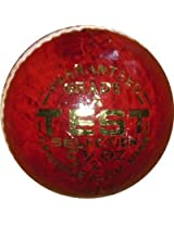 Elan Leather Test Cricket Ball - Size: 5, Diameter: 23 cm - Red