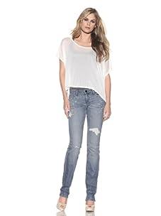 Habitual Denim Women's Amber Straight Leg Jean (Stoned)