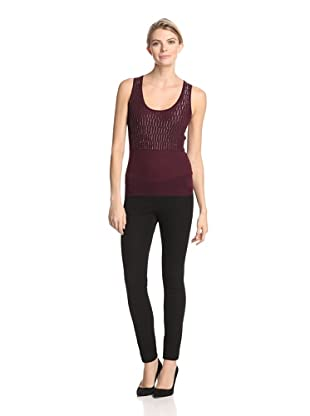 M.Patmos Women's Beaded Tank (Claret)