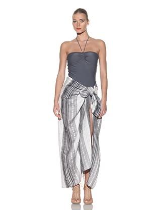 Chris Benz Women's Signature Novelty Sarong (Grey Stripe)