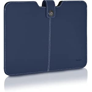 Targus TBS60901US Twill Sleeve for 13.3-inch Laptops/Ultrabooks/MacBook Air/MacBook Pro (Blue)