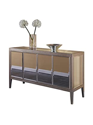 Mirage 4-Door Mirrored Buffet, Silver Leaf