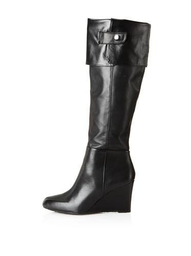 Adrienne Vittadini Footwear Women's Mac Knee-High Boot (Black Nappa)