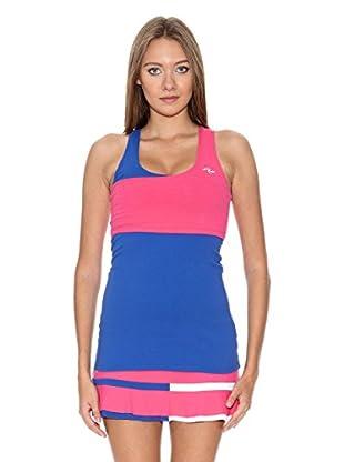 Naffta Camiseta Active / Gym (Azul Noche / Fucsia)
