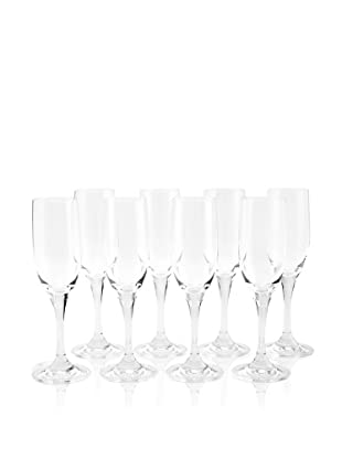 Oneida Set of 8 Profile Champagne Flutes (Clear)