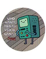 Adventure Time Who Wants To Play Video Games 1.25 Inch Button