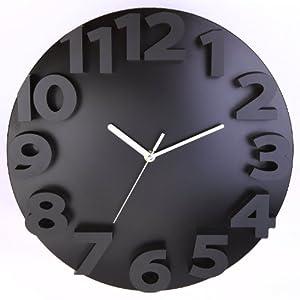 Blacksmith Raised Numbers 3D Clock
