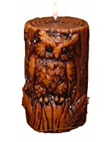 Deco Glow Sculpted Pillar Candle, Owl