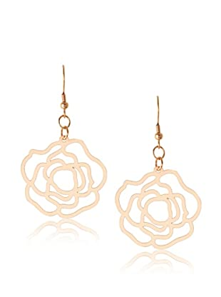 Chloe Collection By Liv Oliver Rose Cutout Drop Earrings
