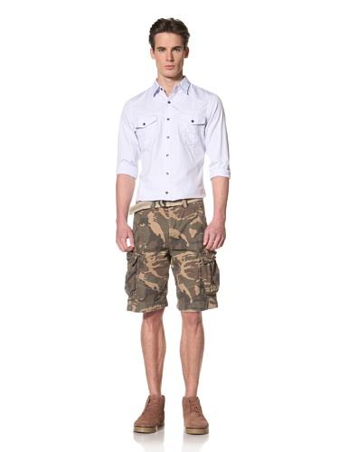 Antony Morato Men's Camo Cargo Shorts (Brown)