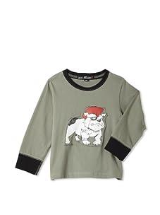 miniMONSTER Baby Boy's Bulldog Long Sleeve Tee (Olive)
