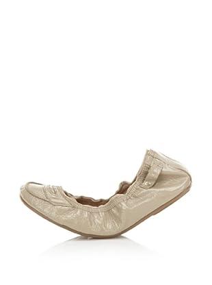 Ballasox by Corso Como Women's Factor Ballet Flat (Khaki Crinkled Patent)