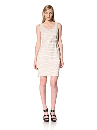 Calvin Klein Women's Sleeveless Polka Dot Dress (Eggshell/Raffia)