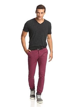 Just a Cheap Shirt Men's A Slim Fit Chino (Burgundy)