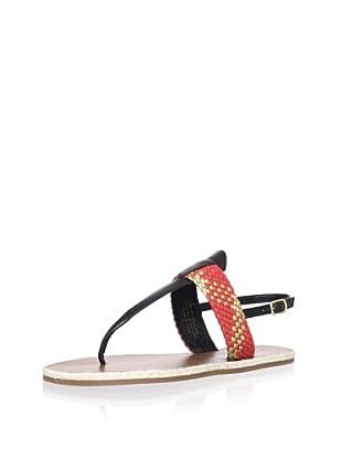 Madison Harding Women's Ash Flat Sandal (Red)