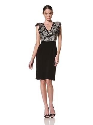 Jay Godfrey Women's Diamondback Ruffle Neck Dress